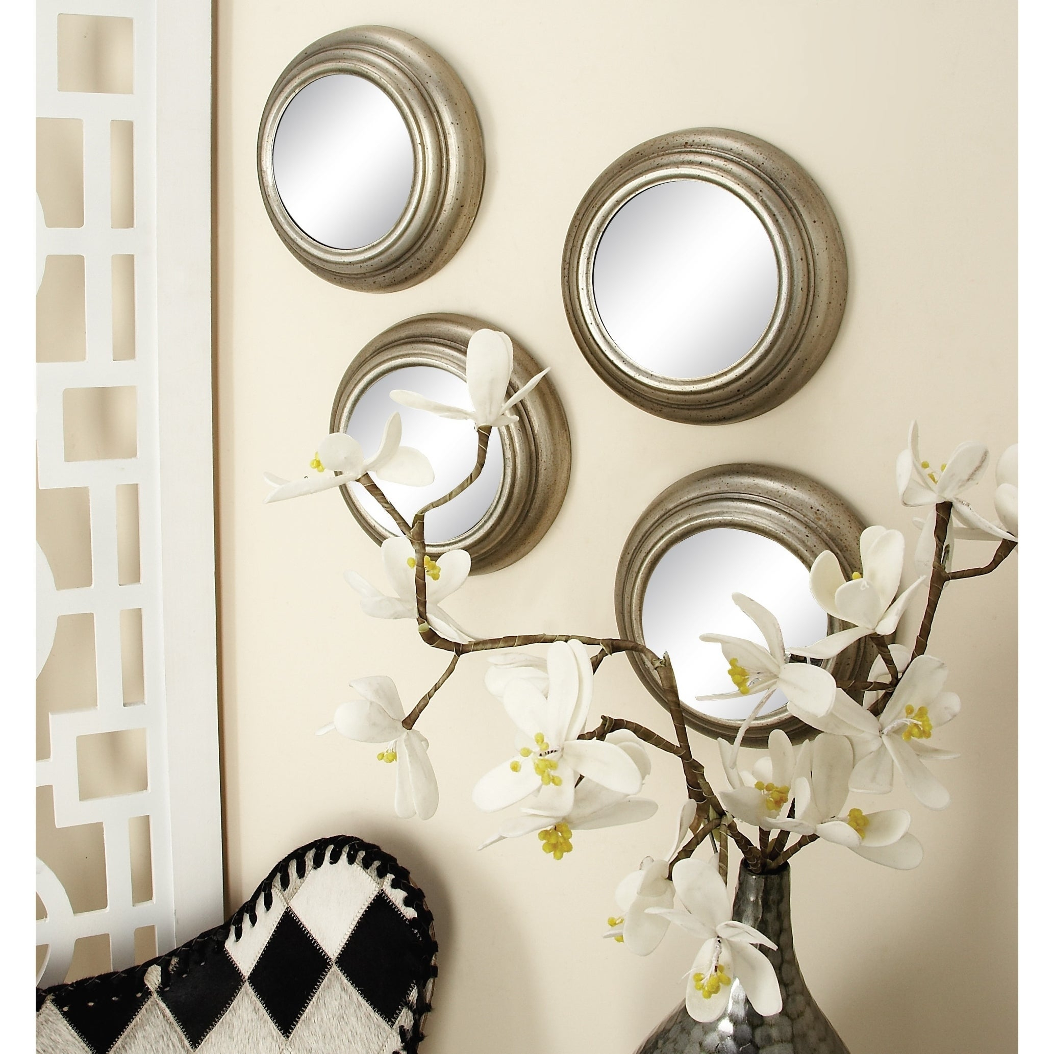 Set Of 12 Contemporary Round Decorative Wall Mirrorsstudio 350 – Silver Inside Wall Mirrors (Image 18 of 20)