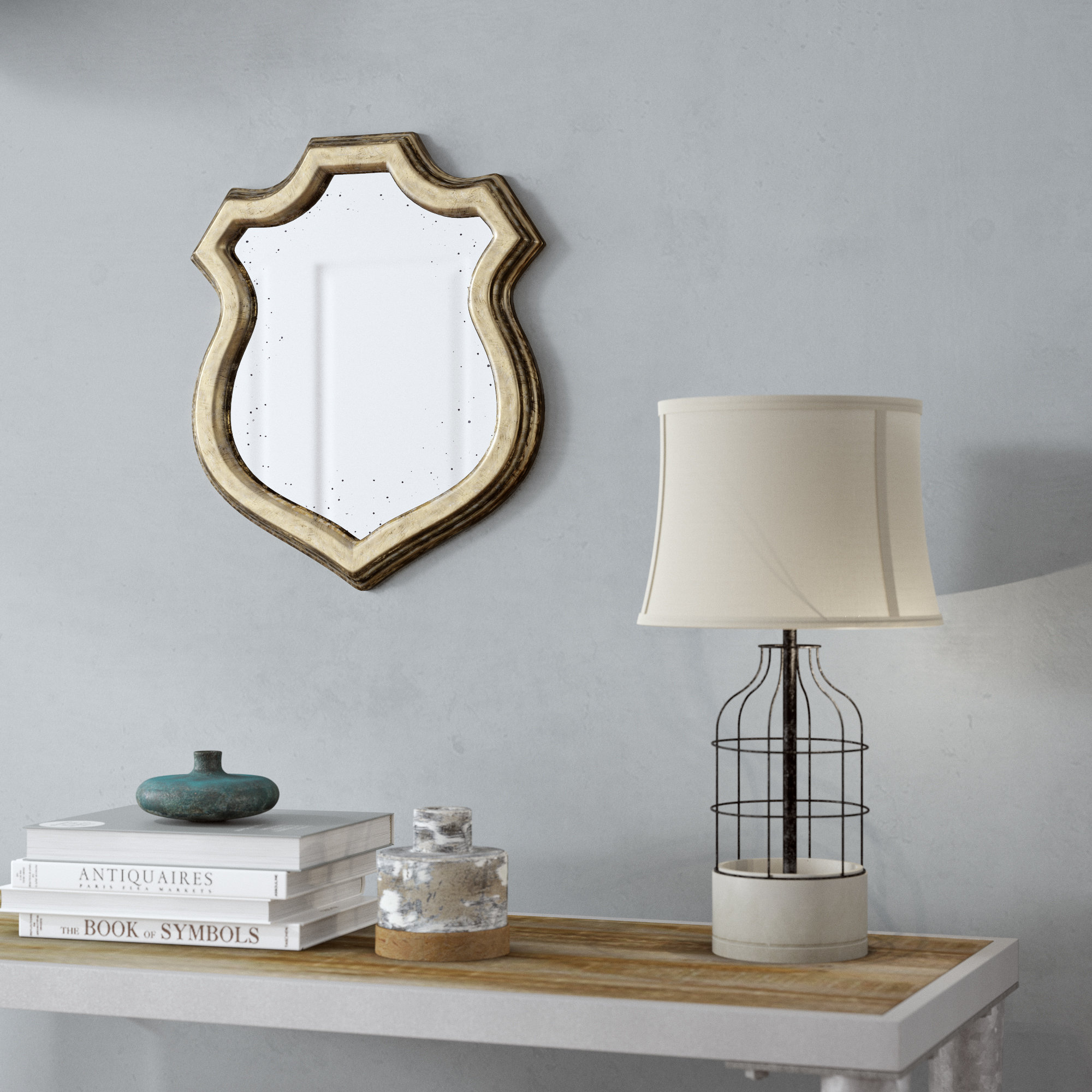 Shabby Chic Wall Mirror | Wayfair Within Epinal Shabby Elegance Wall Mirrors (View 9 of 20)