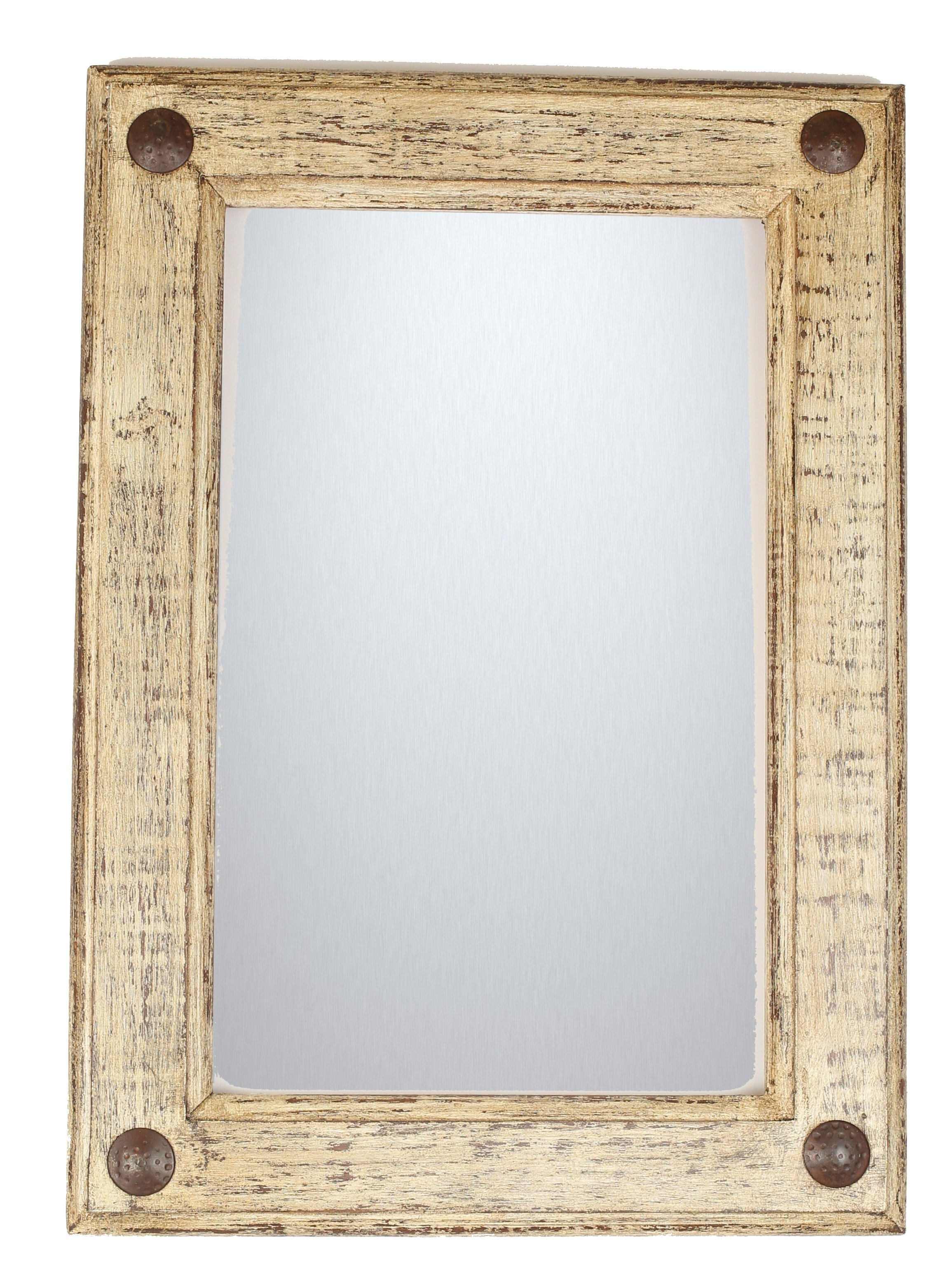 Shabby Rustic Accent Mirror Throughout Lajoie Rustic Accent Mirrors (View 4 of 20)