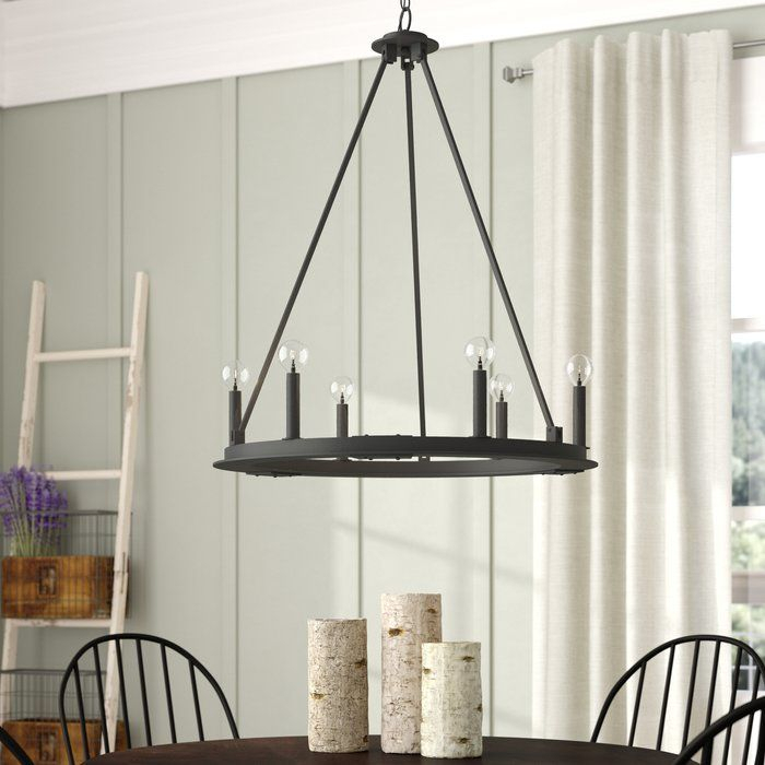Shayla 6 Light Wagon Wheel Chandelier   Our Home :)   Wagon With Shayla 12 Light Wagon Wheel Chandeliers (View 4 of 20)