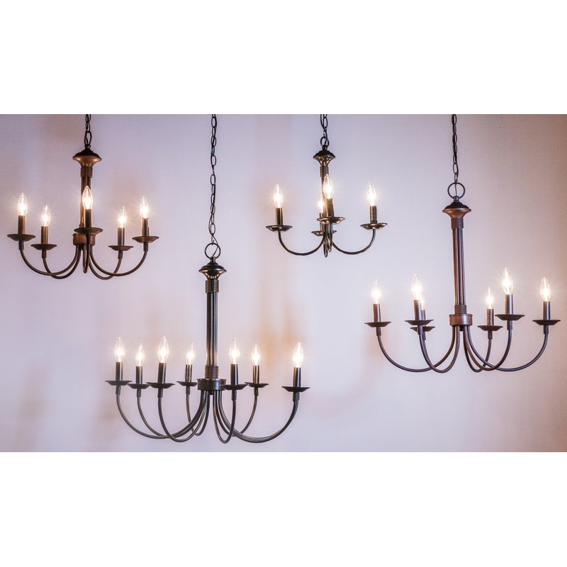 Shaylee 5 Light Candle Style Chandelier With Regard To Shaylee 8 Light Candle Style Chandeliers (View 5 of 20)