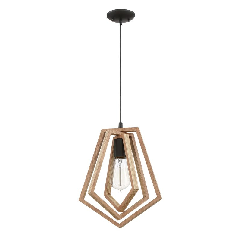 Shelbi 1 Light Single Geometric Pendant Pertaining To Delon 1 Light Lantern Geometric Pendants (Image 20 of 20)