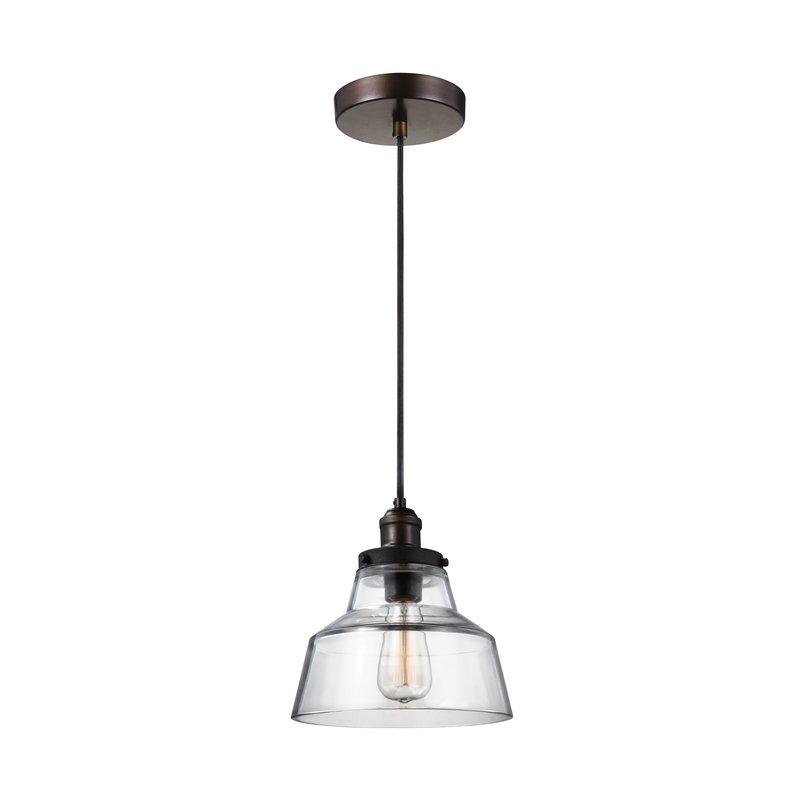 Sherman 1 Light Single Geometric Pendant Inside Roslindale 1 Light Single Bell Pendants (View 18 of 25)