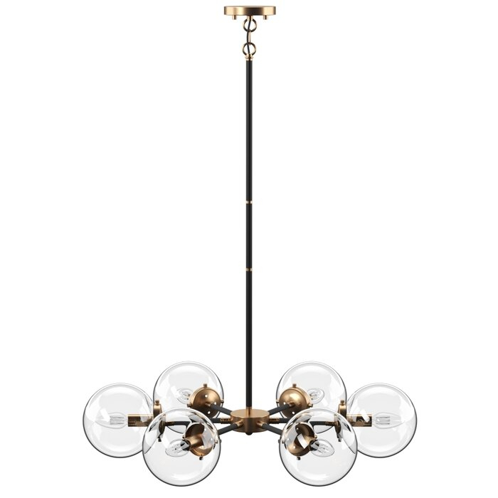 Shontelle 6 Light Sputnik Chandelier With Asher 12 Light Sputnik Chandeliers (View 11 of 20)