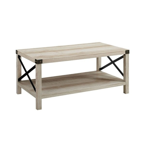 "Shop 40"" Rustic Urban Industrial Style Metal X Coffee Table With Regard To The Gray Barn Kujawa Metal X Coffee Tables – 40 X 22 X 18H (View 9 of 25)"
