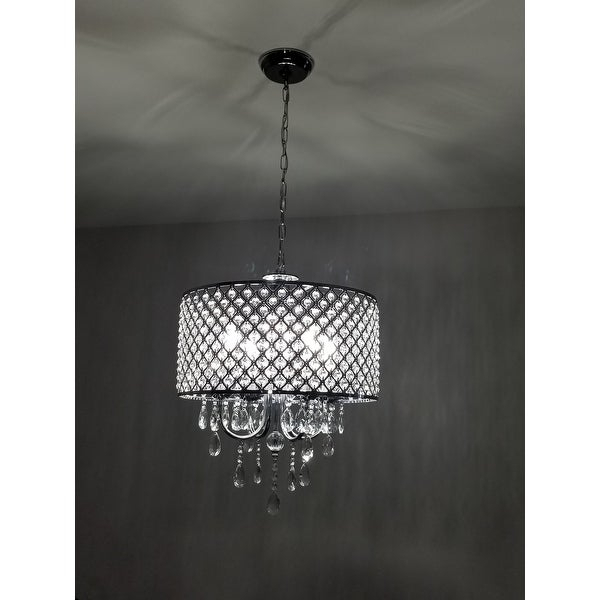 Shop Aaryn 4 Light Drum Chandelier – Free Shipping Today Intended For Von 4 Light Crystal Chandeliers (Image 6 of 20)