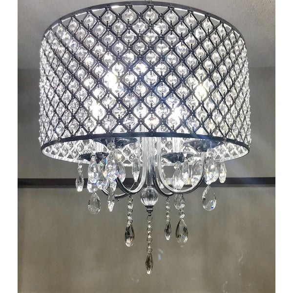 Shop Aaryn 4 Light Drum Chandelier – Free Shipping Today Pertaining To Von 4 Light Crystal Chandeliers (Image 7 of 20)