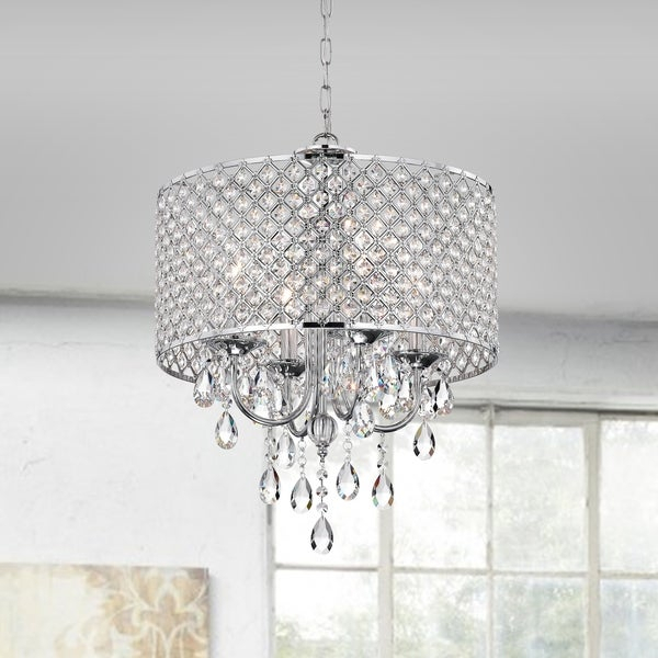 Shop Aaryn 4 Light Drum Chandelier – Free Shipping Today Throughout Von 4 Light Crystal Chandeliers (Image 8 of 20)