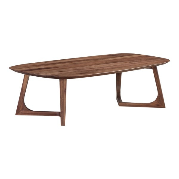 Shop Aurelle Home Gideon Solid Walnut Modern Coffee Table Inside Solid Hardwood Rectangle Mid Century Modern Coffee Tables (View 6 of 50)
