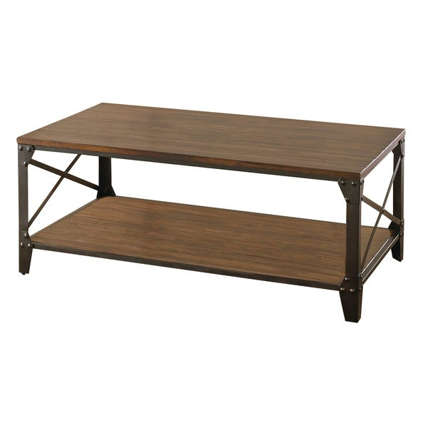 Featured Image of Carbon Loft Fischer Brown Solid Birch And Iron Rustic Coffee Tables