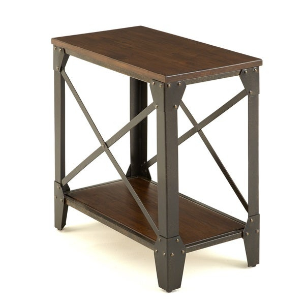 Shop Carbon Loft Fischer Solid Wood And Iron Rustic Inside Carbon Loft Fischer Brown Solid Birch And Iron Rustic Coffee Tables (View 5 of 25)