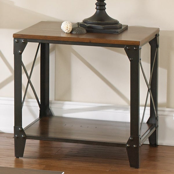 Shop Carbon Loft Fischer Solid Wood And Iron Rustic Square With Regard To Carbon Loft Fischer Brown Solid Birch And Iron Rustic Coffee Tables (View 3 of 25)