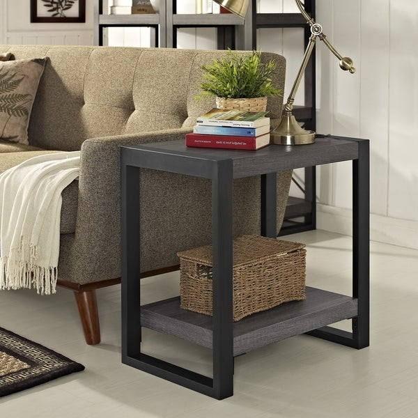 Shop Carbon Loft Hamilton 24 Inch Side Table – 24 X 16 X 24H With Carbon Loft Hamilton 48 Inch Coffee Tables (View 5 of 25)