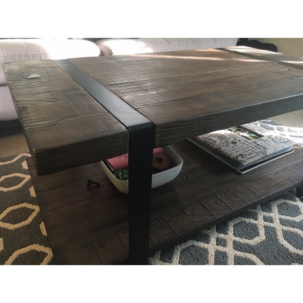 Shop Carbon Loft Kenyon Natural Rustic Coffee Table – On For Carbon Loft Kenyon Natural Rustic Coffee Tables (Image 15 of 25)