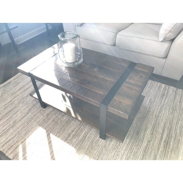 Shop Carbon Loft Kenyon Natural Rustic Coffee Table – On In Carbon Loft Kenyon Natural Rustic Coffee Tables (Image 16 of 25)