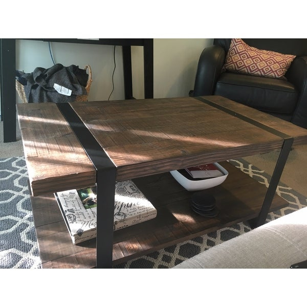 Shop Carbon Loft Kenyon Natural Rustic Coffee Table – On Inside Carbon Loft Kenyon Natural Rustic Coffee Tables (View 6 of 25)