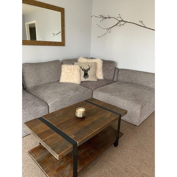 Shop Carbon Loft Kenyon Natural Rustic Coffee Table – On Inside Carbon Loft Kenyon Natural Rustic Coffee Tables (Image 18 of 25)