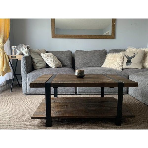 Shop Carbon Loft Kenyon Natural Rustic Coffee Table – On Pertaining To Carbon Loft Kenyon Natural Rustic Coffee Tables (Image 20 of 25)