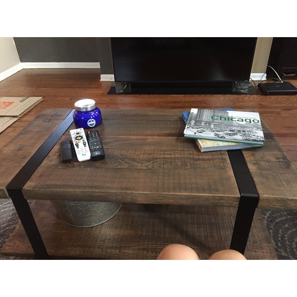 Shop Carbon Loft Kenyon Natural Rustic Coffee Table – On With Carbon Loft Kenyon Natural Rustic Coffee Tables (Image 23 of 25)