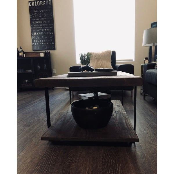 Shop Carbon Loft Kenyon Natural Rustic Coffee Table – On Within Carbon Loft Kenyon Natural Rustic Coffee Tables (View 5 of 25)
