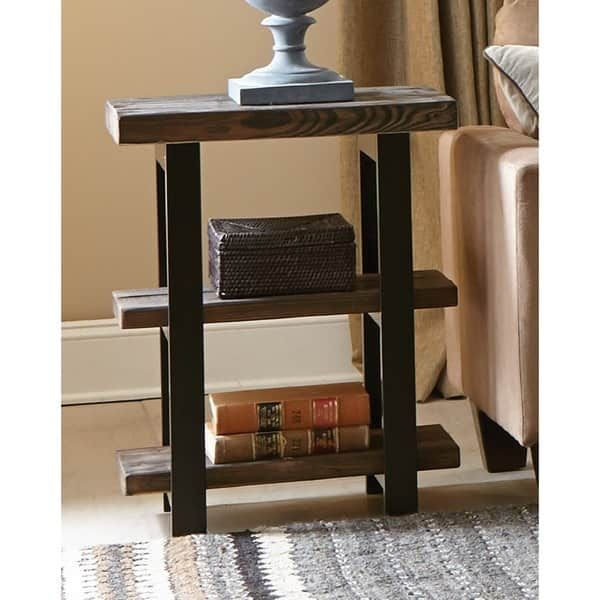 Shop Carbon Loft Lawrence 2 Shelf Rustic End Table – On Sale Within Carbon Loft Lawrence Reclaimed Cube Coffee Tables (Image 29 of 50)
