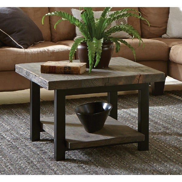 Shop Carbon Loft Lawrence Reclaimed Cube Coffee Table – On Inside Carbon Loft Lawrence Reclaimed Wood 42 Inch Coffee Tables (View 8 of 50)