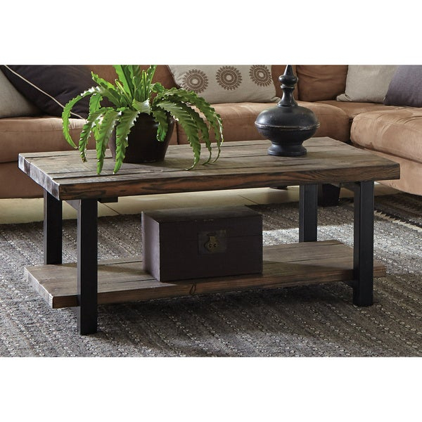 Featured Image of Carbon Loft Lawrence Reclaimed Wood 42 Inch Coffee Tables