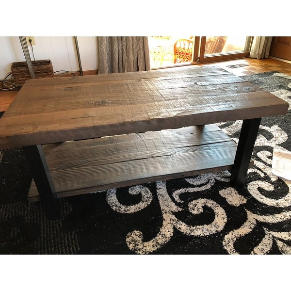 Shop Carbon Loft Lawrence Reclaimed Wood 42 Inch Coffee Intended For Carbon Loft Lawrence Reclaimed Wood 42 Inch Coffee Tables (View 5 of 50)