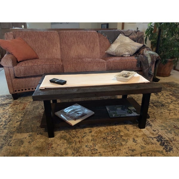 Shop Carbon Loft Lawrence Reclaimed Wood 42 Inch Coffee With Carbon Loft Lawrence Reclaimed Wood 42 Inch Coffee Tables (View 7 of 50)