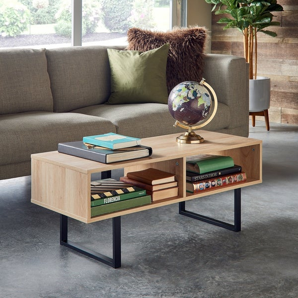 Shop Carbon Loft Morse Industrial Coffee Table – Free With Regard To Carbon Loft Enjolras Wood Steel Coffee Tables (View 11 of 25)