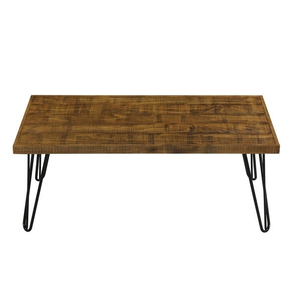 Shop Carbon Loft Pniowsky Wood And Metal Coffee Table Rustic With Regard To Carbon Loft Enjolras Wood Steel Coffee Tables (View 8 of 25)