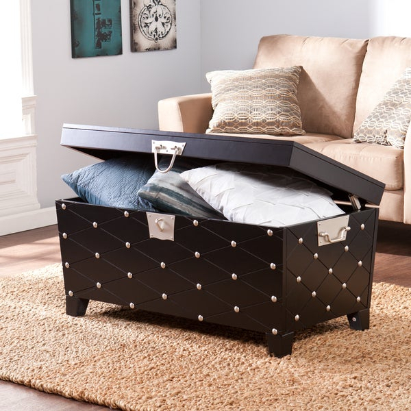 Featured Image of Copper Grove Liatris Black And Satin Silver Coffee Tables