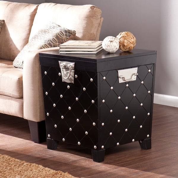 Shop Copper Grove Liatris Black And Satin Silver Side/ End For Copper Grove Liatris Black And Satin Silver Coffee Tables (View 2 of 25)