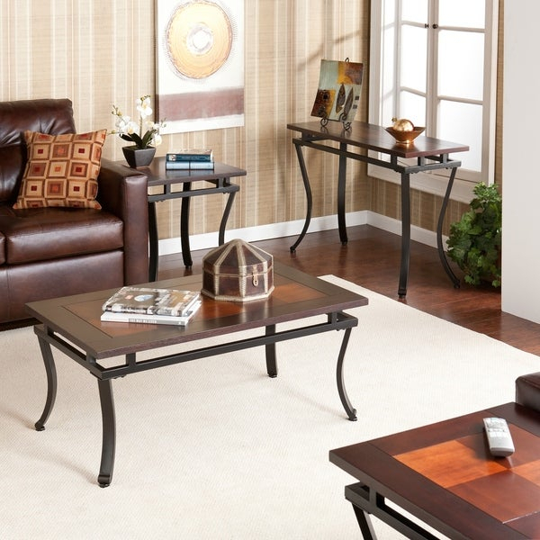 Shop Copper Grove Liatris Table Collection (Set Of 4) – Free With Copper Grove Liatris Black And Satin Silver Coffee Tables (View 10 of 25)