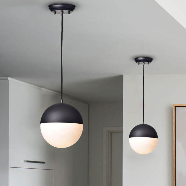 Shop Fabiola Matt Black 1 Light Globe Pendant – Free Regarding 1 Light Globe Pendants (Image 18 of 25)