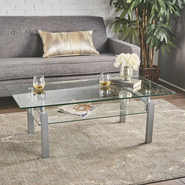 Featured Image of Finbar Modern Rectangle Glass Coffee Tables