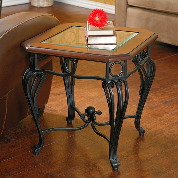 Shop Gracewood Hollow Salinger Glass Top End Table – Free Pertaining To Gracewood Hollow Salinger Prentice Cocktail Tables (View 2 of 25)