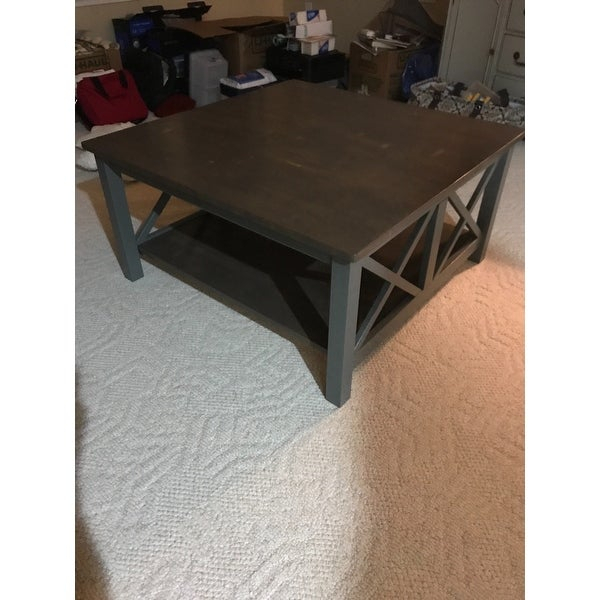 Shop 'hampton' Unfinished Solid Parawood Square Coffee Table Intended For Unfinished Solid Parawood Hampton Coffee Tables (Image 10 of 25)