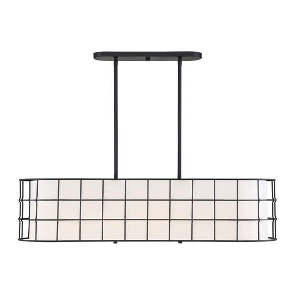 Shop Hayden 5 Lights Black Linear Chandelier – Free Shipping For Hayden 5 Light Shaded Chandeliers (Image 19 of 20)