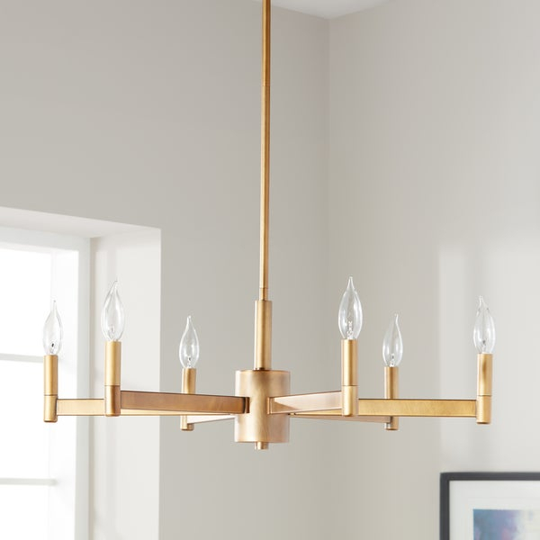 Shop Kichler Lighting Erzo Collection 6 Light Natural Brass Regarding Alden 6 Light Globe Chandeliers (View 20 of 20)