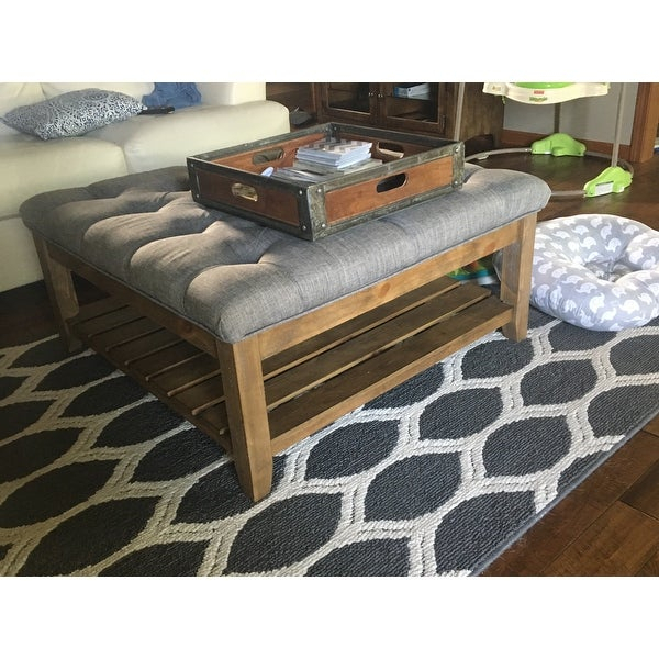 Shop Lennon Pine Planked Storage Ottoman Coffee Table In Lennon Pine Planked Storage Ottoman Coffee Tables (View 9 of 25)