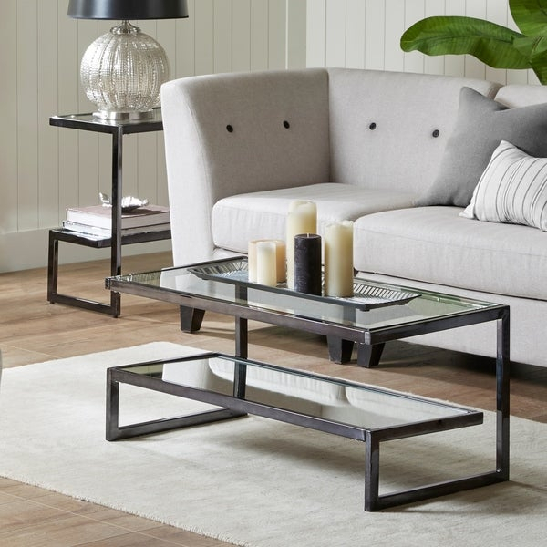 Shop Madison Park Signature Boyd Black Coffee Table – On Throughout Gracewood Hollow Salinger Prentice Cocktail Tables (View 11 of 25)