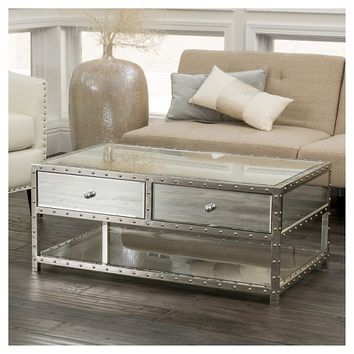Shop Mirrored Coffee Table On Wanelo In Silver Orchid Olivia Glam Mirrored Round Cocktail Tables (View 43 of 50)