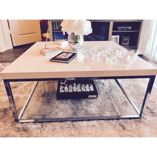 Shop Safavieh Malone White/ Chrome Coffee Table – (View 11 of 25)