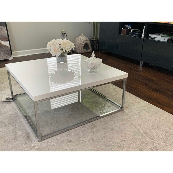 Shop Safavieh Malone White/ Chrome Coffee Table – (View 3 of 25)