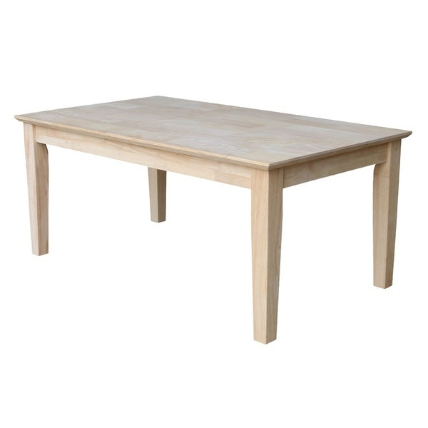 Featured Image of Shaker Unfinished Solid Parawood Tall Coffee Tables