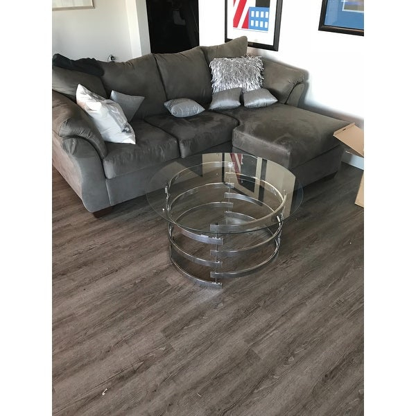 Shop Silver Orchid Bardeen Round Coffee Table – Free For Silver Orchid Bardeen Round Coffee Tables (View 4 of 25)