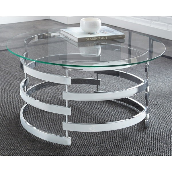 Shop Silver Orchid Bardeen Round Coffee Table – Free Intended For Silver Orchid Bardeen Round Coffee Tables (View 2 of 25)
