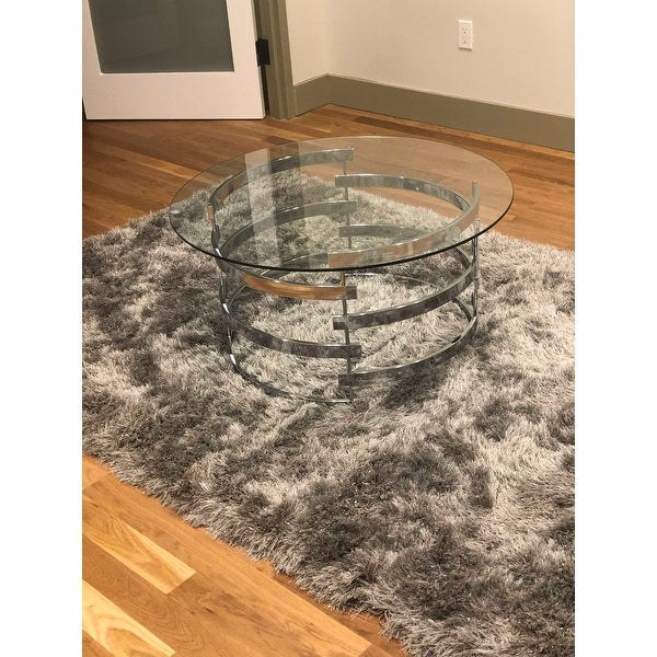 Shop Silver Orchid Bardeen Round Coffee Table – Free Pertaining To Silver Orchid Bardeen Round Coffee Tables (View 3 of 25)