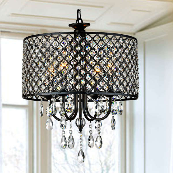 Shop Silver Orchid Berger Antique Black 4 Light Round Inside Berger 5 Light Candle Style Chandeliers (View 19 of 20)